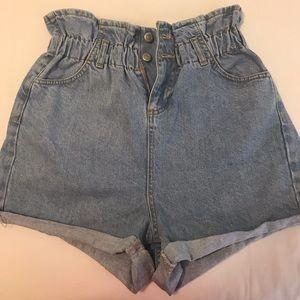 Topshop Mom Jean Shorts
